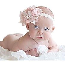 Susenstone 1PCS strass Carino Insolito Angel Baby perla del fiore Hairband Fascia