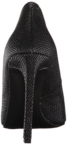 Nine West Tatiana Leather Pump Dress Black Shiny Reptile