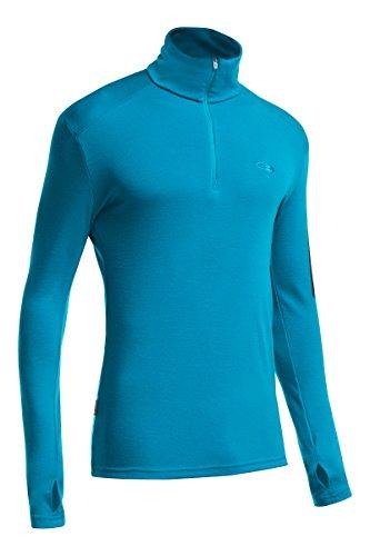 Icebreaker Herren Apex Merino Long Sleeve Half Zip Jersey XL Alpine/Carbon (Ibex-wolle-jersey)
