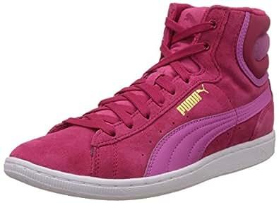 Puma Women's VikkyMid Rose Red and Phlox Pink Sneakers - 4 UK/India (37 EU)