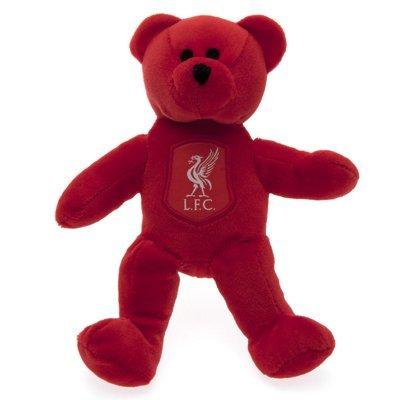 Liverpool FC Mini Plüsch Teddy Bär mit Club Wappen (Einheitsgröße) (Rot)