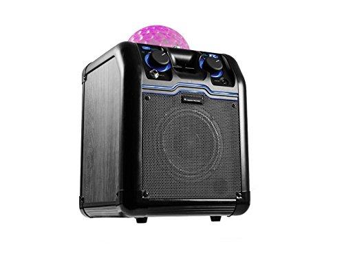 Omnitronic BeatRevel S | Mobile Bluetooth-Lautsprecher mit integriertem Lichteffekt | Kompaktes, mobiles Lautsprechersystem mit 50 Watt Peak-Leistung | Integrierte Discokugel sorgt für Partystimmung