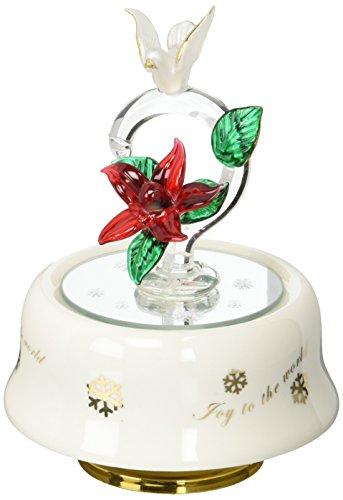 stealstreet ss-ug-pa-4643Taube Vogel mit Weihnachtsstern Blume Musik Trinket Jewelry Box Decor Rose