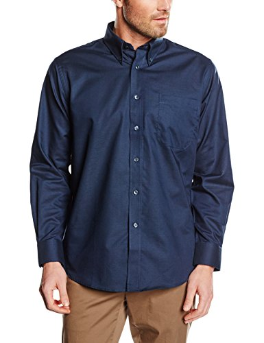 Fruit of the Loom Oxford, Chemise Business Homme Bleu - Bleu marine