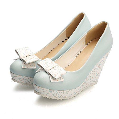 Adee Mesdames Cale Plateforme polyuréthane Pompes Chaussures Bleu