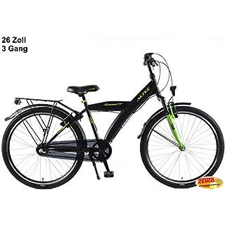 Altec Speed N3 Jungenrad Schwarz-Grün 26 Zoll