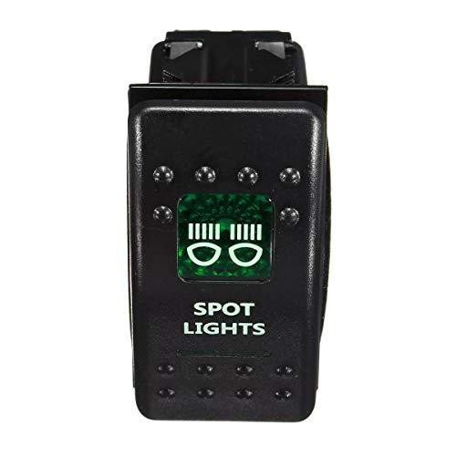 KUNSE wasserdichte LED beleuchtet hinterleuchtetRocker Schalter + Relais Sicherung Verdrahtung Kit SUV 4WD-4