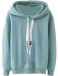 NINGSANJIN Damen Hoodie Winter Kapuzenpullover Langarm Shirt Bluse Sweatshirt