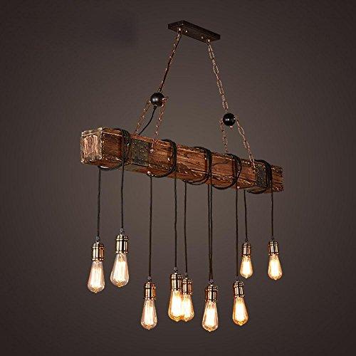 BJVB Drei Vintage Industrie Holz Anhnger Lampe Schlafzimmer Wohnzimmer Kronleuchter