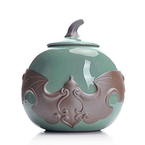 Vaso di porcellana,Canister de thé,Coffres de stockage de thé,Service à thé Pots-A 13x14cm(5x6inch)
