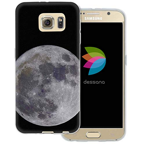 dessana Mond transparente Schutzhülle Handy Case Cover Tasche für Samsung Galaxy S6 Vollmond 1226 Crystal