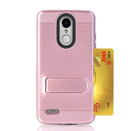 QINPIN Gebürsteter Harter PC + Siliconer Case Cover Skins Kartenhalter für Tribute Dynasty LV3 Rose Gold