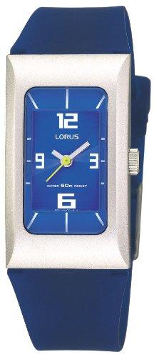 Lorus RG259DX9 - Reloj analógico unisex de cuarzo con correa de goma azul - sumergible a 30 metros