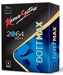 Kamasutra Dott max 2064 raised Dots condoms - 3s (pack of 2)