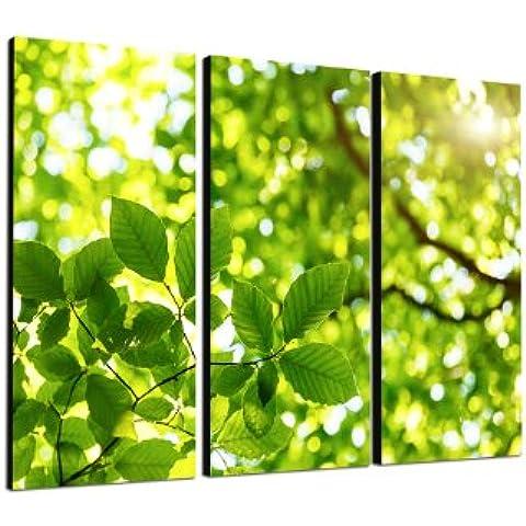 Albero Stampa su foglie verdi vita energia 3 x 40 x 90 cm tre su tela e telaio pronto per essere appeso - Risoluzione su Tela migliore Chen grazie ai suoi insoliti formati e le parti in pressione fino a 100 isole Seychelles.
