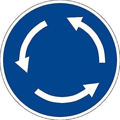 Gebotszeichen - Kreisverkehr - Kunststoff Selbstklebend