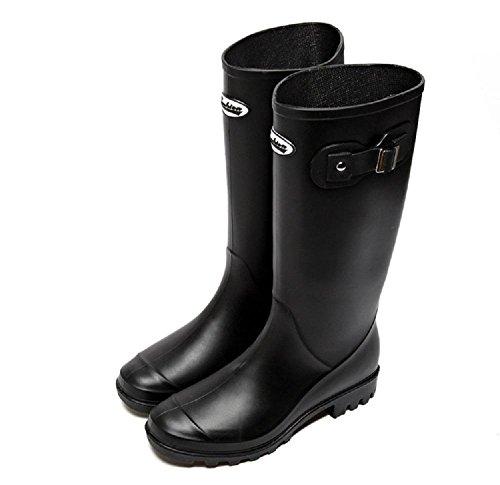 PVC Spring Fashion Martin stivali da pioggia Black