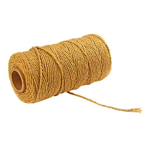 Corde en lin 100m de long / 100 verges en pur coton tordu par corde Corde Artisanat Corde multicolore en macramé Artisan Bellelo