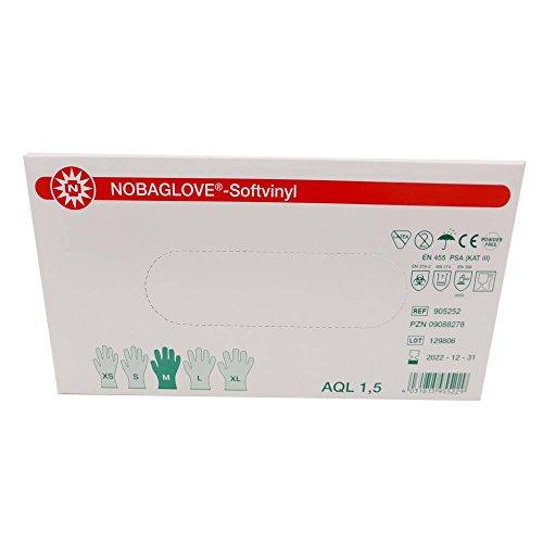 Noba NOBAGLOVE-Softvinyl Handschuhe Einmalhandschuhe Einweghandschuhe Vinylhandschuhe, gelb, XL