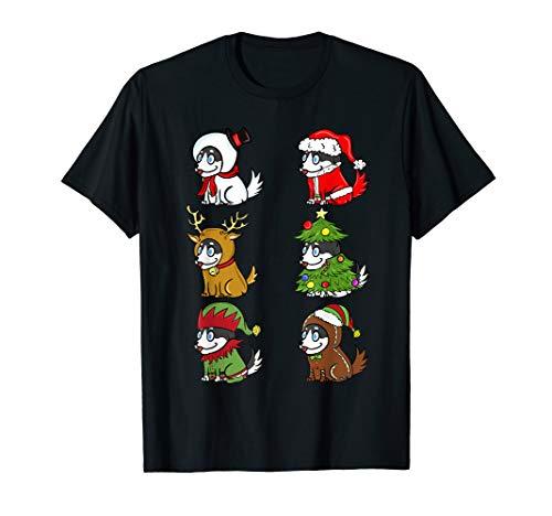 Husky Xmas Kostüme Lustiger Hund Weihnachten Geschenk  T-Shirt