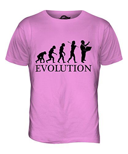 CandyMix Baumanagement Baustellenleiter Evolution Des Menschen Herren T Shirt Rosa