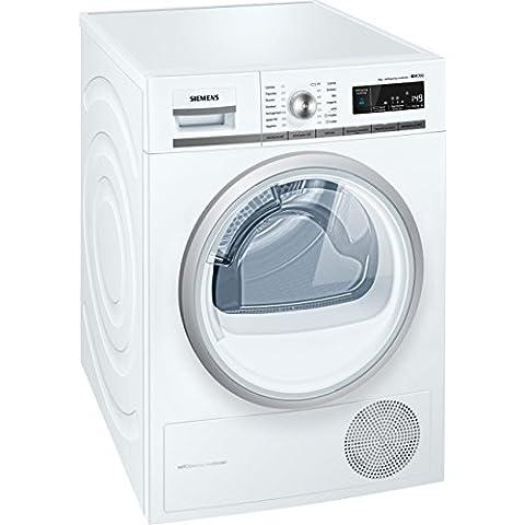 Siemens WT47W568IT Independiente Carga frontal 8kg A++ Color blanco - Secadora (Independiente, Carga frontal, Condensación, A++, Color blanco,