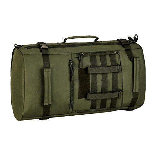 MagiDeal Militärische Reisetasche Taktische Molle Reiserucksack 50L Backpack Sportrucksack Duffle Bag Wanderrucksack Trekkingrucksack Handtasche Schultertasche Umhängetasche Armeegrün