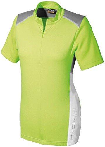 Damen Fahrradshirt Fahrrad T Shirt Trikot Damen TOPCOOL®-Funktionsfaser (M 40/42, Grün)