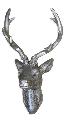 hirschgeweih-hirschkopf-geweih-10-ender-in-silber-metall-optik-15-x-30-cm-figur-skulptur-deko