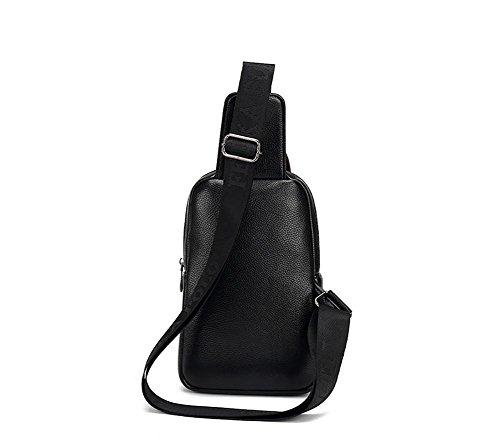 Il braccialetto della cassa brace high-grade business della cavità di corsa del soft-surface per trasmettere il sacchetto del sacchetto del petto degli uomini di grande capacità di disegno 27 * 17 * , Black