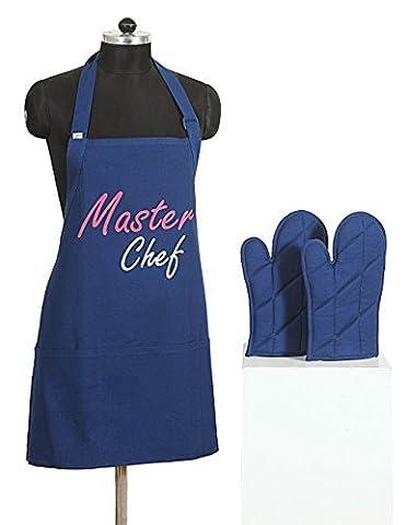 Grafik-Screen Print Schürze & Ofen Mitt Set - 100% Baumwolle - Küche Geschenke für Frauen oder in der Küche Geschenke für Männer