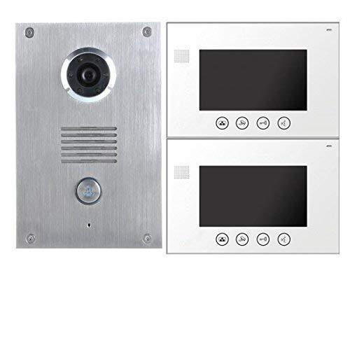 Perlwei/ß Bticino 332253 Ersatz-Display 4,3 Zoll f/ür Video-Sprechanlagen 2 Kabel