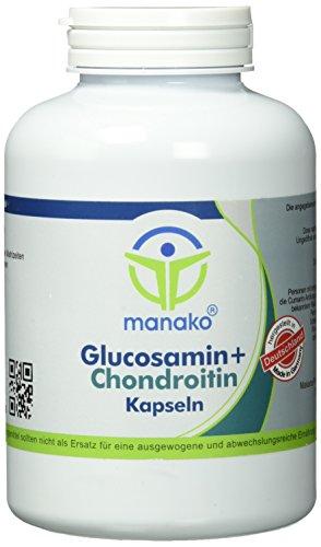 manako Glucosamin und Chondroitin Kapseln, 300 Stück, Dose a 240 g (1 x 300 Kapseln)