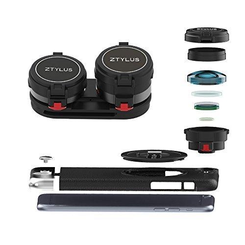ztylus z-prime Lens Kit für iPhone 6S Plus/6PLUS: Super-Weitwinkel-Objektiv, 2x Teleobjektiv und ztylus Metall Serie Fall