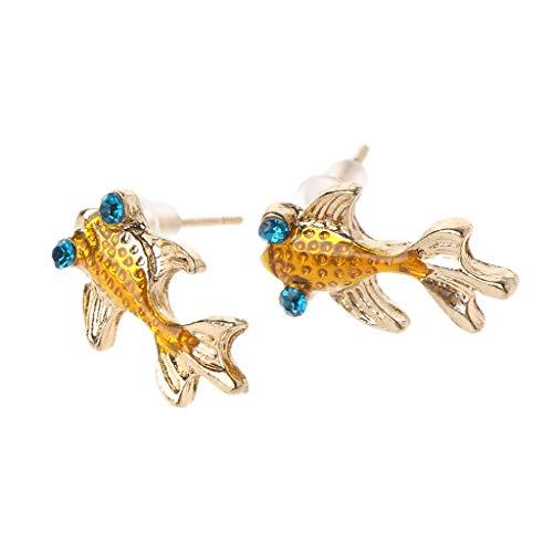 Haptian Ohrring, Süße Lebendige Kleine Goldfisch Ohrstecker Für Frauen Modeschmuck (Süße Schwarze Ohrstecker)