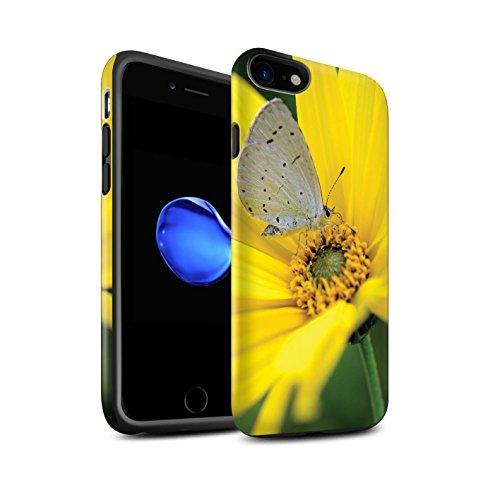 STUFF4 Matte Harten Stoßfest Hülle / Case für Apple iPhone 8 / Pinke Rose Muster / Englische Gärten Kollektion Schmetterling