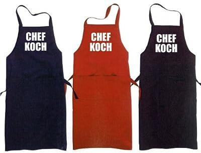 Kochen - Grillen - Schürze, mit aufgesetzter Tasche CHEFKOCH