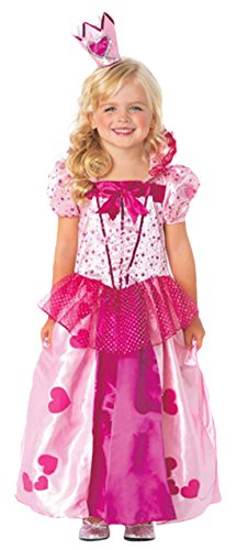 Karnevalsbud - Mädchen Karneval Komplett Kostüm Sweetheart Princess, Rosa, Größe 98-104, 3-4 (Disney Damen Schneewittchen Princess Kostüme)