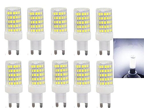 LED Lampe G9,Glühbirne G9 LED 10W,86X 2835 SMD G9 LED Birnen,850LM,Ersatz für 80W Halogen Lampen,Kaltweiß 6000K,360° Abstrahlwinkel,AC220-240V,Nicht Dimmbar,Nicht Flicker,10er Pack - G9 Halogen Lampe