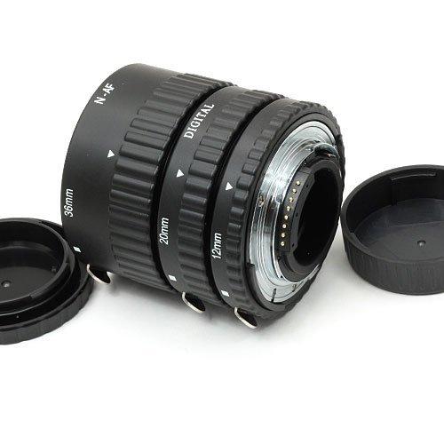 Meike - Tubo de extensión macro de metal con enfoque automático para cámaras fotográficas Nikon