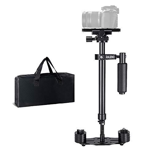 Kamera Stabilisator, RALENO 60cm Steadycam mit Schnellwechselplatte 1/4 3/8 Zoll Schraube für Canon Nikon Sony und andere DSLR Kamera Video DV bis zu 3 kg Dslr-video