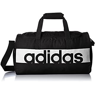 adidas Linear Performance Duffel Bag Large - Black/Black/White, 16 x 28 x 46 cm, 21 l