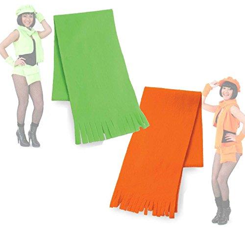 Plüschschal, in Zwei Farben, Party-Outfit, Accessoire, Karneval, Schal, Stola, Plüschaccessoire, Neon-Grün oder Neon-Orange (Neon Orange)
