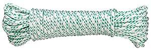 Connex DY2702873 Mehrzweckseil, 4.0 mm x 20 m, farbbeständig, gefertigt nach DIN 83307, weiß-grün