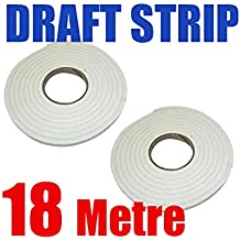 18M Foam Window Door Draft Draught Excluder Weather Strip Insulation Roll.