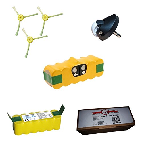 Akku für iRobot Roomba 3500mAh + Seitenbürsten + Vorderrad Center-für alle Serie 500600700-Garantie JSD - 600 Series Notebook Akku