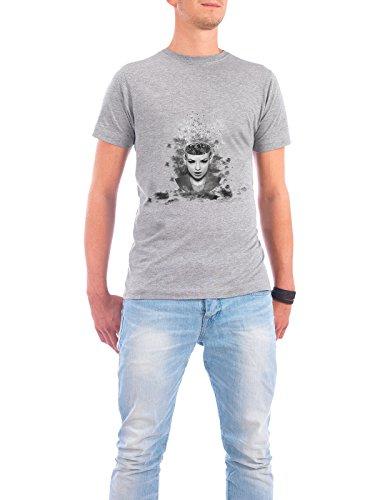 """Design T-Shirt Männer Continental Cotton """"I walk alone, I walk alone to find the way home"""" - stylisches Shirt Abstrakt Fiktion von Rosa Picnic Grau"""