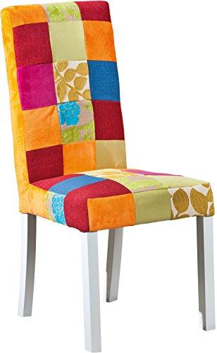 Links-20500055-Sao-Bento-Chaises-Patchwork-pieds-Bois-Massif-Multicolore-lot-de-2-46-x-58-x-99-cm