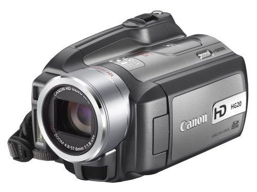 Canon AVCHD Camcorder HG20 (60 GB, Dual Flash Memory, 6,9 cm (2,7 Zoll)LCD Display, 3,31 Megapixel, 12-fach optischer Zoom)/silber