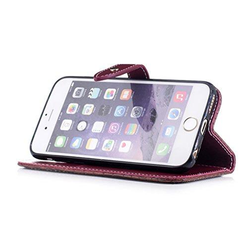 Trumpshop Smartphone Case Coque Housse Etui de Protection pour Apple iPhone 6 Plus / iPhone 6s Plus (5.5-Pouce) [Noir] Motif Peau de Crocodile PU Cuir Fonction Support Anti-Chocs Marron